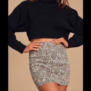 Free People Modern Femme Novelty Skirt in Black